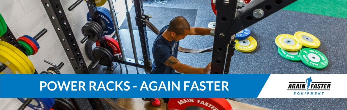 Again Faster Power Racks Banner