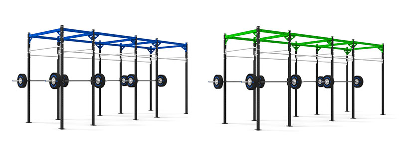 Coloured Pull Up Rigs Blue and Green