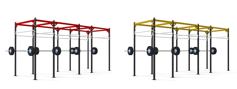 Coloured Pull Up Rigs Red and Yellow