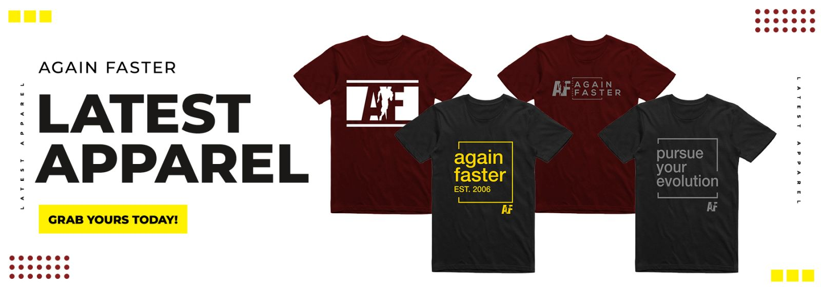 Again Faster Winter 2021 Apparel Collection - Banner