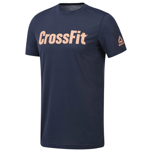 Reebok CrossFit Men's Forging Elite Fitness Tee - Navy